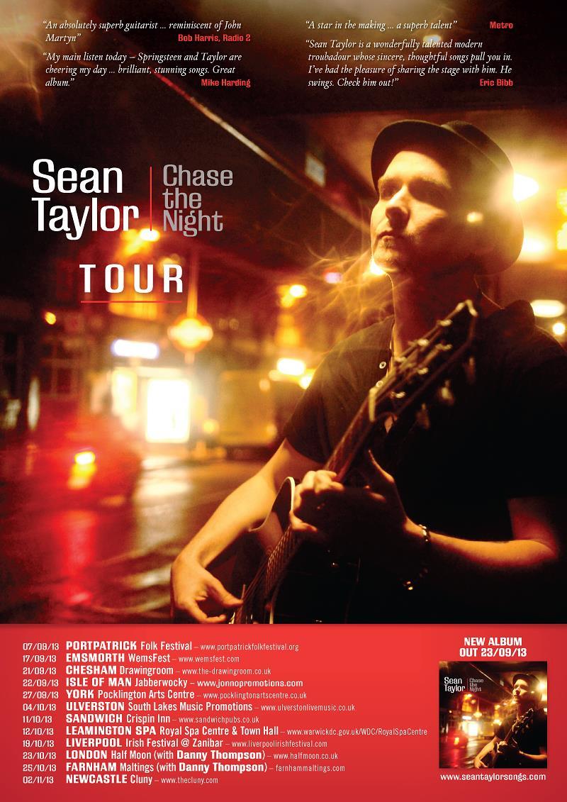 SEAN TAYLOR tour poster